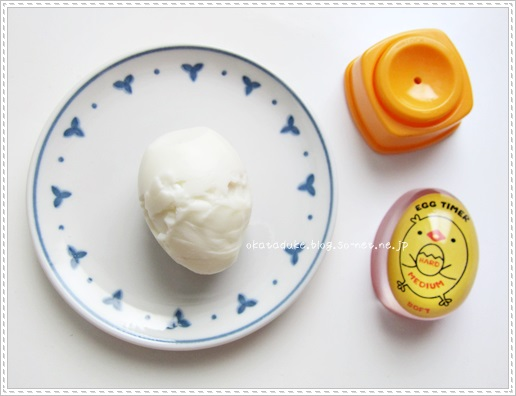 ボロボロになったゆで卵
